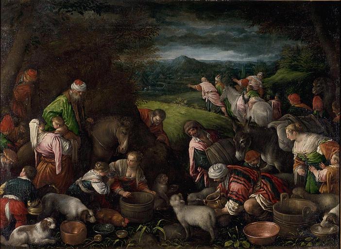 Отбытие в Кенаан. Леандро Бассано, XVI-XVII вв.