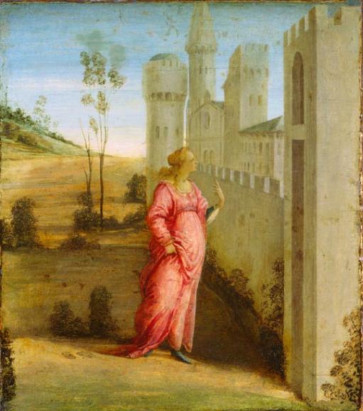 Эстер у дворцовых ворот. Филиппо Липпи, XV в.