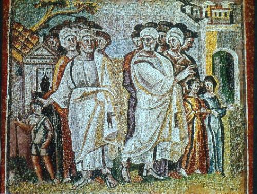 Разделение Лота и Авраама. Мозаика в базилике Санта Мария Маджоре, V в.
