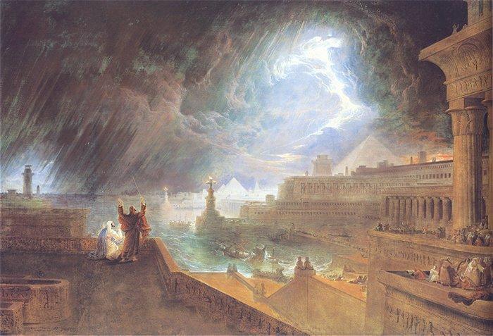Седьмая казнь египетская: град. Джон Мартин, 1823