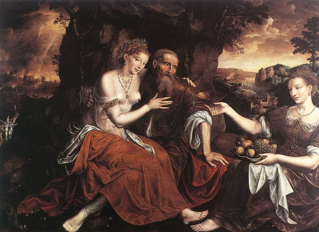 Лот и его дочери. Ян Массейс, 1565