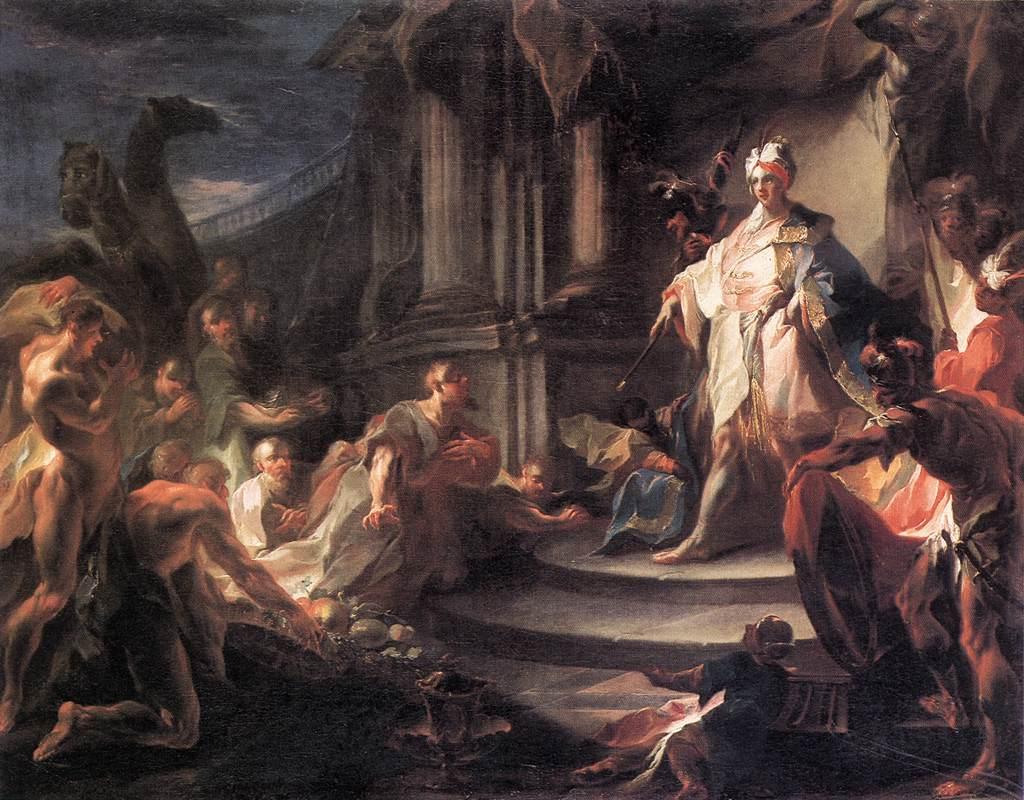 Йосеф и его братья. Франц Антон Маульберч, 1750