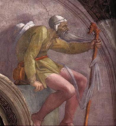 Боаз. Микеланджело, 1512