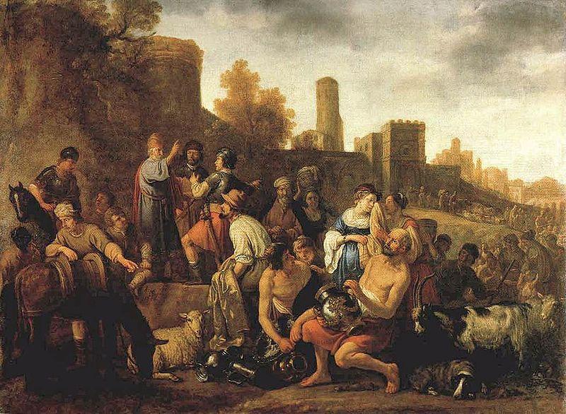 Моше отдает приказ расправиться с мидианитянами. Клас Корнелис Муйарт, 1650