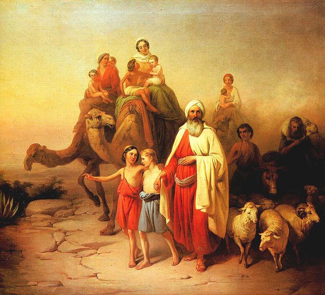 Переселение Авраама. Йожеф Молнар, 1850