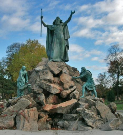 Фонтан 'Моше' в Вашингтонском парке г. Олбани, штат Нью-Йорк