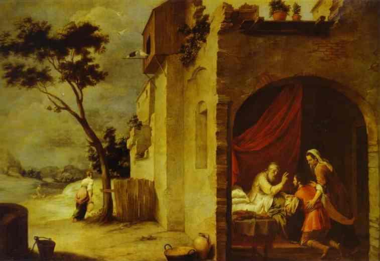Йицхак благословляет Йаакова. Бартоломе Эстебан Мурильо, 1665-1670