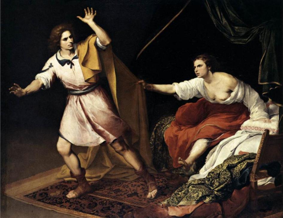 Йосеф и жена Потифара. Бартоломе Эстебан Мурильо, 1645