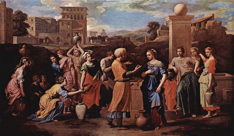 Элиэзер и Ривка у колодца. Николя Пуссен, 1648