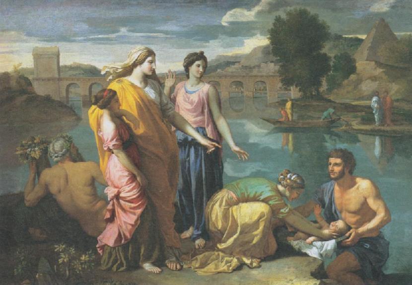 Дочь фараона находит младенца Моше. Николя Пуссен, 1638