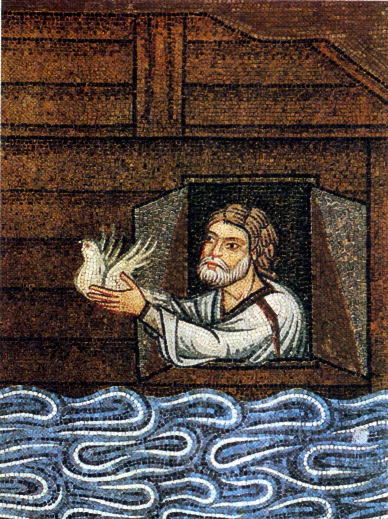 Ноах. Мозаика в Соборе Святого Марка, XII-XIII вв.