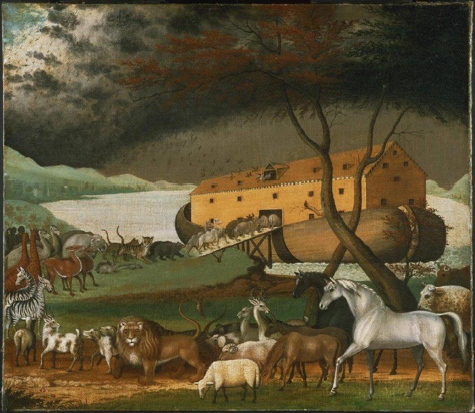 Ноев ковчег. Эдвард Хикс, 1846