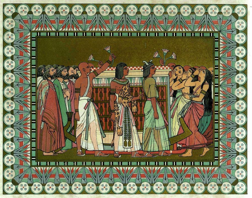 Йосеф и его братья хоронят Йаакова. Миниатюра Оуэна Джонса, 1869