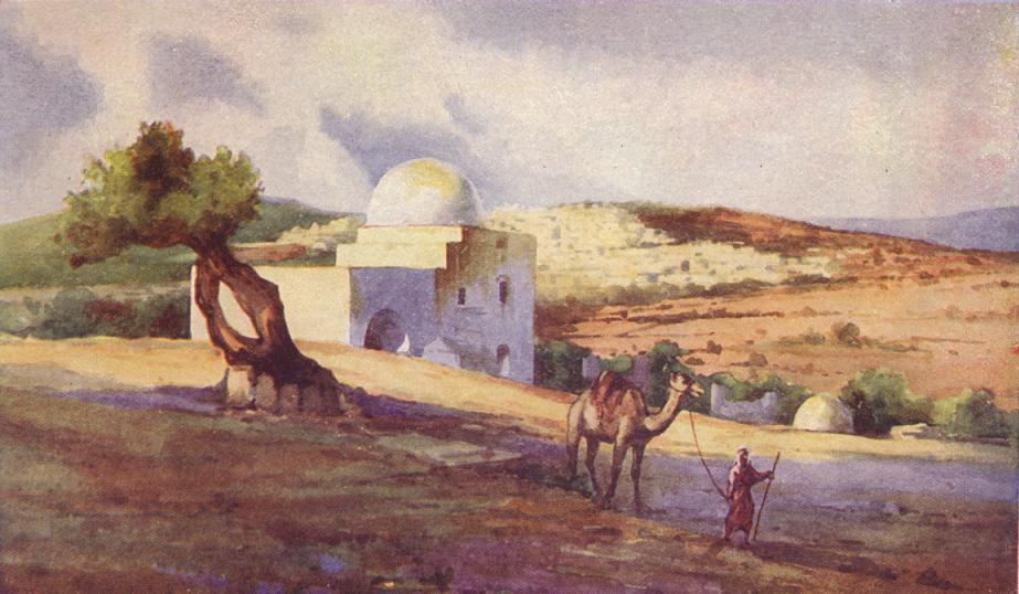 Гробница Рахели. Рисунок, 1911
