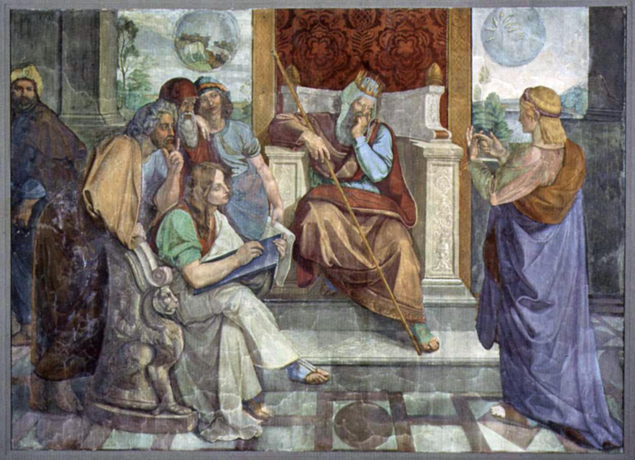 Йосеф толкует сон фараона. Петер Йозеф фон Корнелиус, 1817
