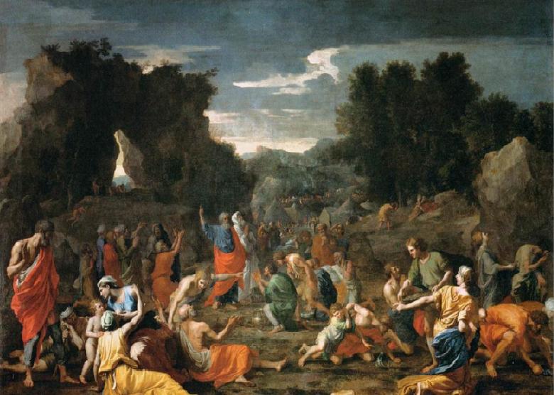 Сбор манны. Николя Пуссен, 1637