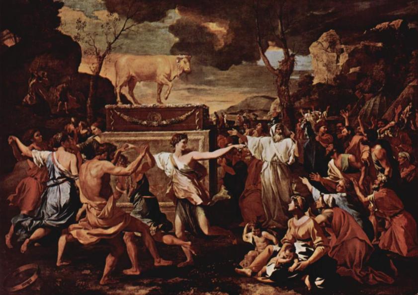 Поклонение золотому тельцу. Николя Пуссен, 1633-34