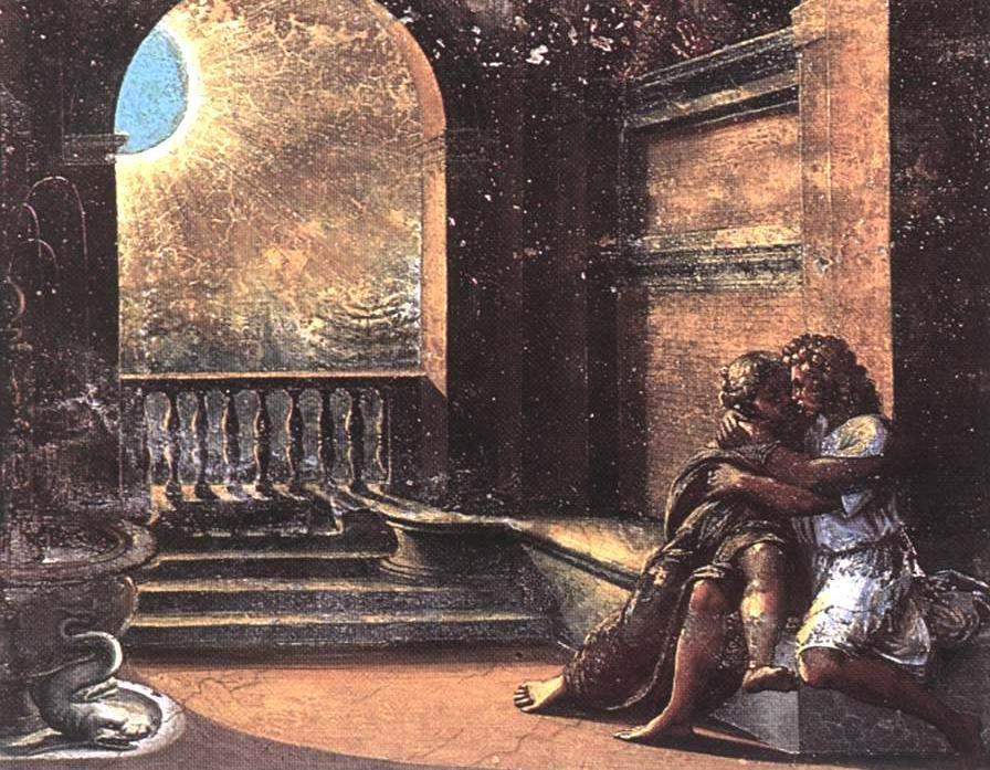 'Йицхак и Ривка, застигнутые Авимелехом'. Рафаэль