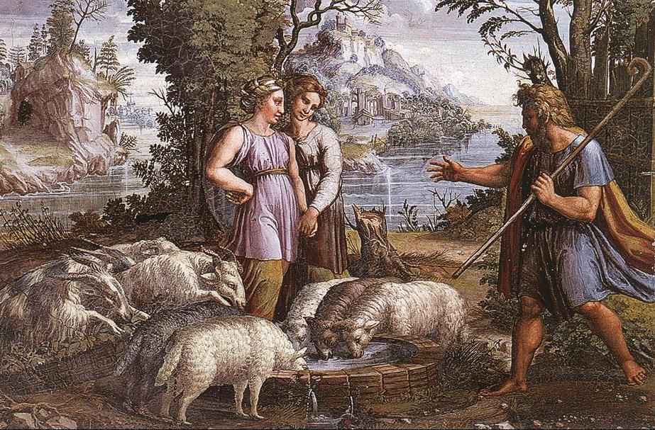 Встреча Йаакова и Рахель. Рафаэль, 1519