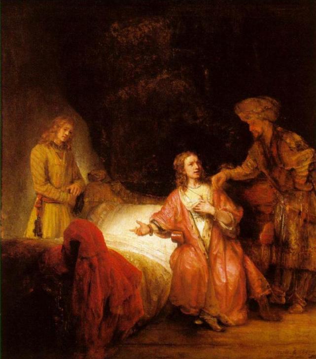 Йосеф, обвиняемый женой Потифара. Рембрандт, 1655