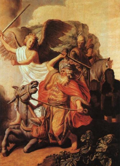 Ослица Билеама. Рембрандт, 1626