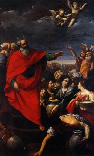 Сбор манны. Гвидо Рени, 1621