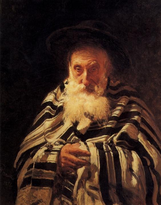 Еврей на молитве. Илья Репин, 1875