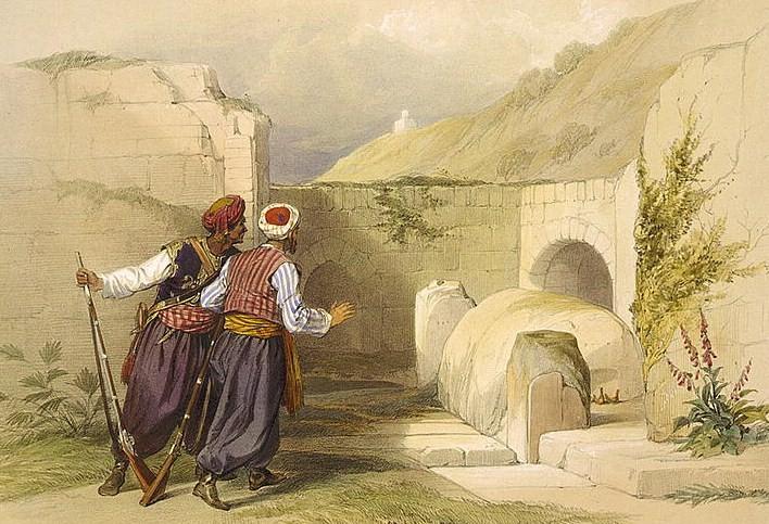 Могила Йосефа в Шхеме. Дэвид Робертс, 1839