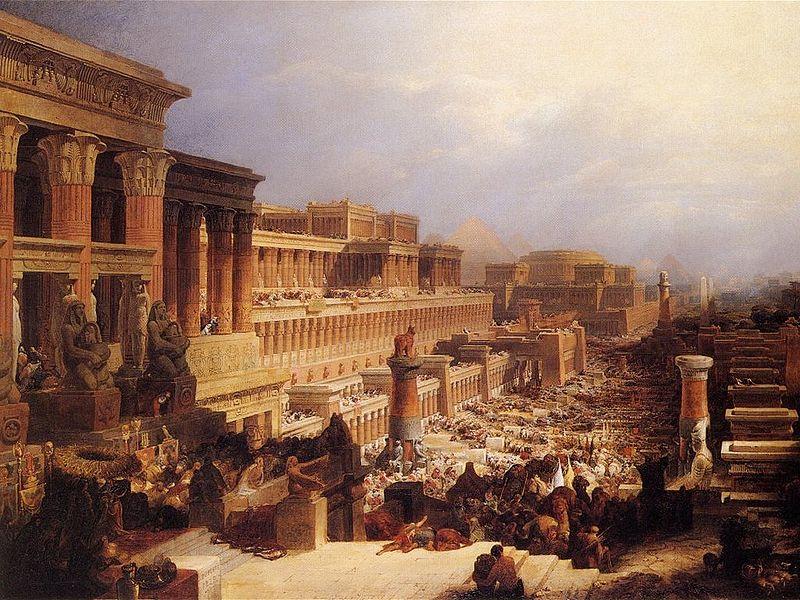 Израильтяне покидают Египет. Дэвид Робертс, 1830
