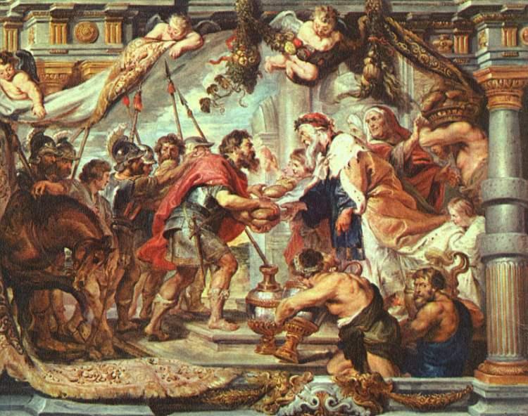 Авраам встречает Малки-Цедека. Питер Пауль Рубенс, 1625