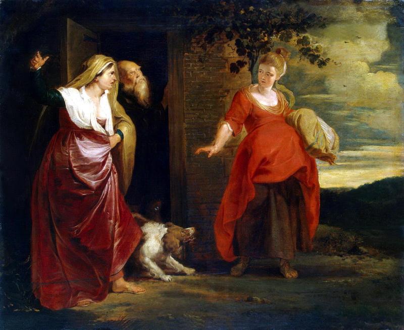 Агар покидает дом Авраама. Питер Пауль Рубенс, 1615-1617