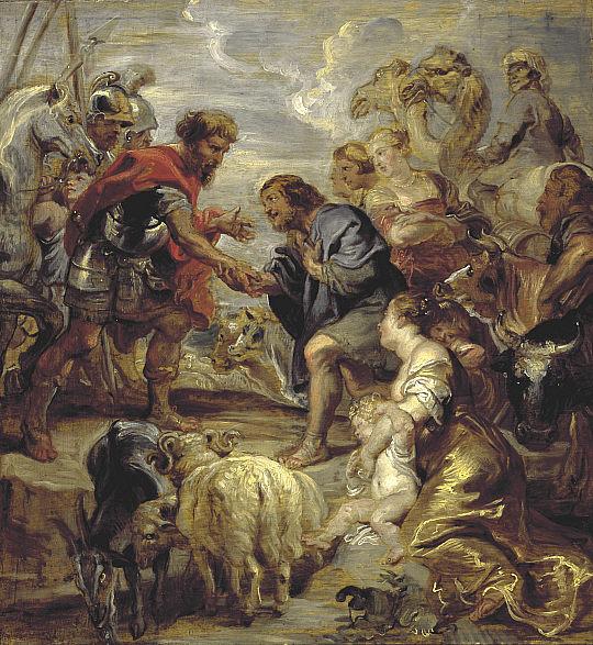 Примирение Йаакова и Эсава. Питер Пауль Рубенс, 1624