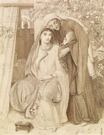 Рут, Наоми и Обед. Симеон Соломон, 1860