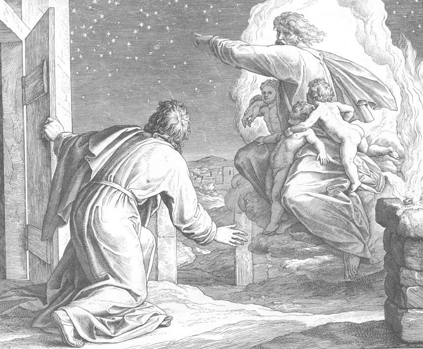 Видение Господа, велящего Аврааму пересчитать звезды. Юлиус Шнорр фон Карольсфельд, 1851-1860