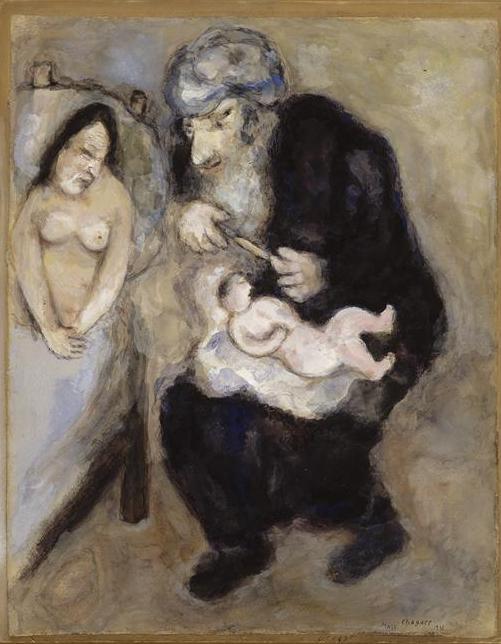 Обрезание, предписанное Богом Аврааму. Марк Шагал, 1931