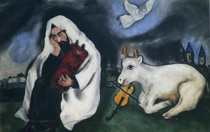 Одиночество. Марк Шагал, 1933