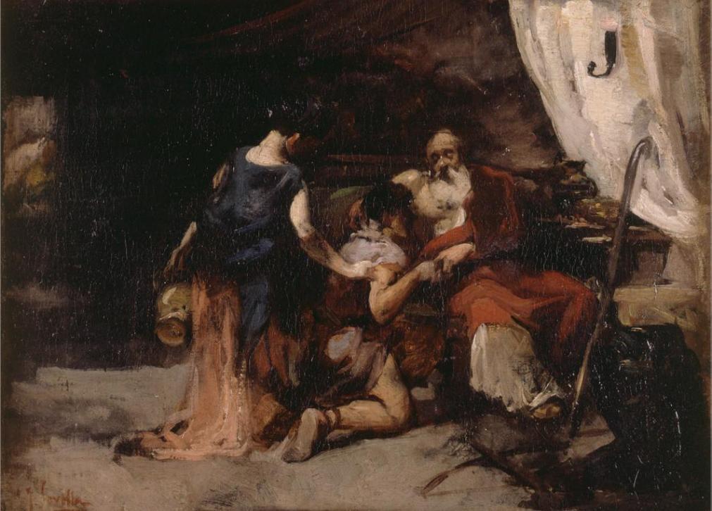 Благословение Йицхака. Хоакин Соролья, XIX в.