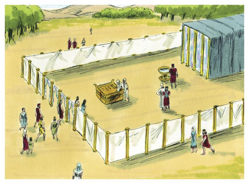 Строительство Скинии. Иллюстрация к изданию Библии, 1984