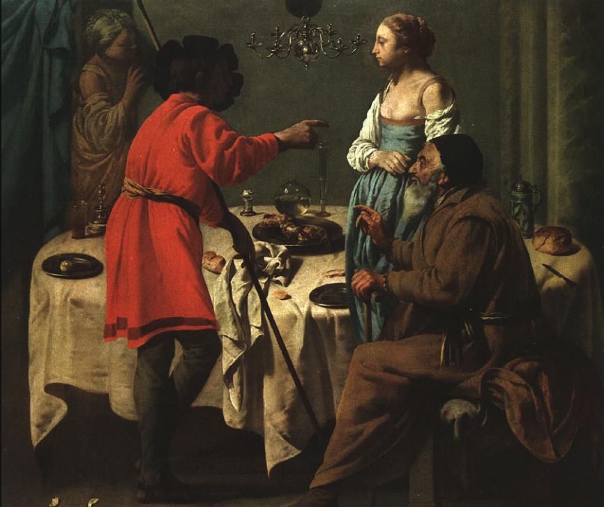 Йааков, укоряющий Лавана. Хендрик Тербрюгген, 1627