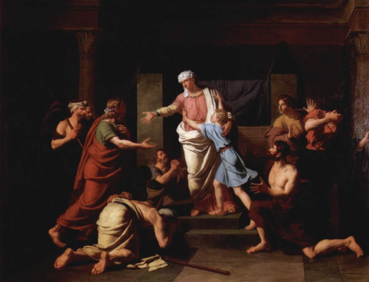 Братья узнают Йосефа. Шарль Тевенен, 1789
