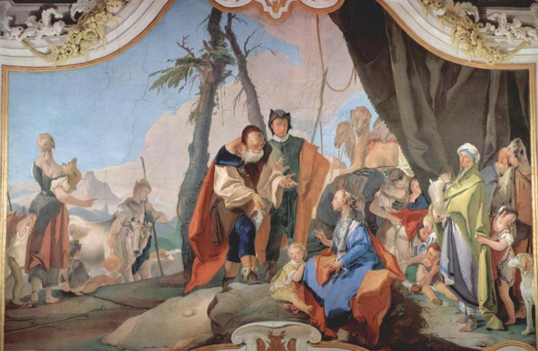 Рахель, прячущая идолов. Джанбаттиста Тьеполо, 1728