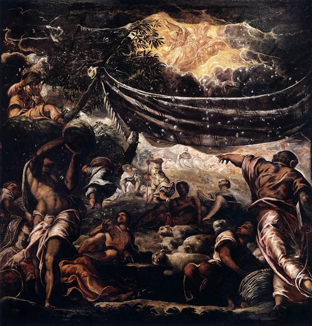 Евреи собирают манну небесную. Тинторетто, 1577