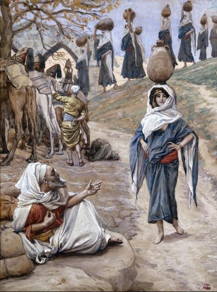 Слуга Авраама встречает Ривку. Джеймс Тиссо, ок. 1902