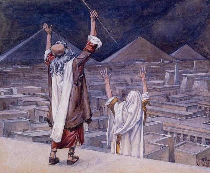 Восьмая казнь: нашествие саранчи. Джеймс Тиссо, ок. 1898