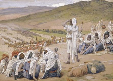 Йааков видит приближающегося к нему Эсава. Джеймс Тиссо, 1902