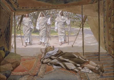Авраам и три ангела. Джеймс Тиссо, 1896-1902