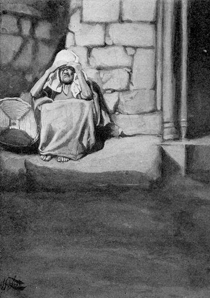 Мирьям изгнана из стана. Джеймс Тиссо, 1896-1902