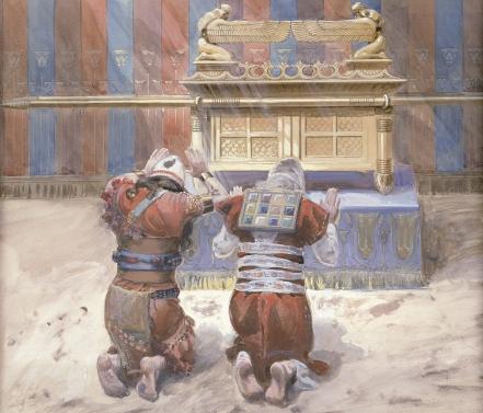 Моше и Йеошуа в скинии. Джеймс Тиссо, 1896-1902