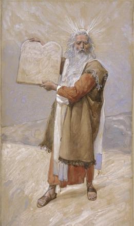Моше и скрижали Завета. Джеймс Тиссо, 1896-1902