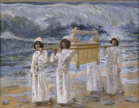 Израильтяне переносят Ковчег Завета через Иордан. Джеймс Тиссо, 1896-1902